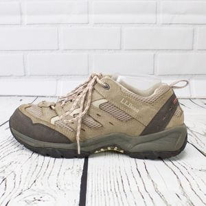 LL Bean Tan Pink Hiking Sneakers Size 11